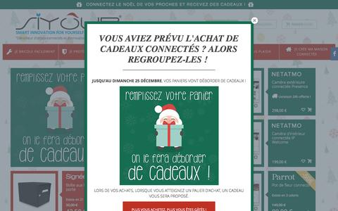 Screenshot of Home Page siyour.com - Siyour | Dénicheur d'objets connectés et d'innovations pour la maison - Siyour - captured Dec. 17, 2016