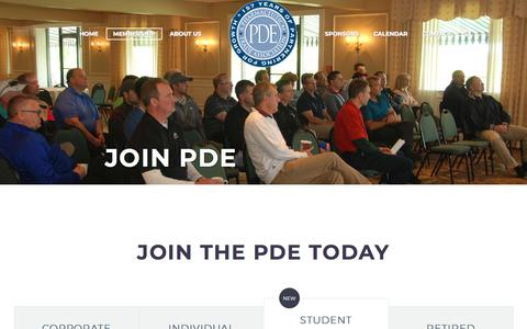 Screenshot of Signup Page pdetrade.org - Join The PDE I PDE Trade Association - captured Sept. 25, 2018
