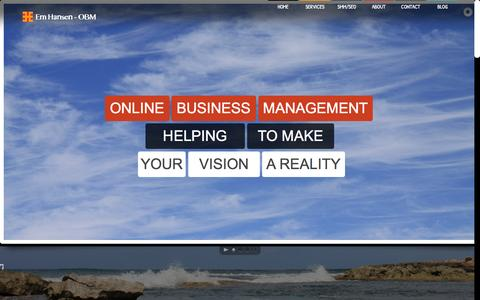 Screenshot of Home Page em-hansen.com - Em Hansen - Online Business Manager - captured Jan. 23, 2015