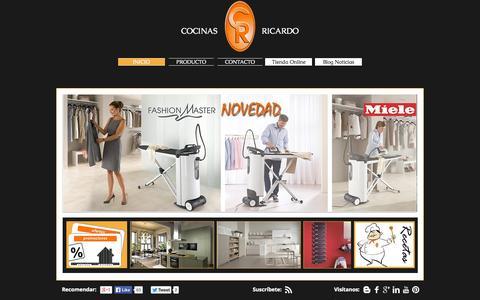 Screenshot of Home Page cocinasricardo.com - Cocinas Ricardo - captured Oct. 3, 2014