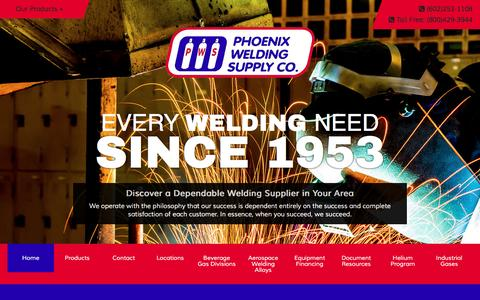 Screenshot of Home Page phxwelding.com - Online Welding and Safety Supplies... Phoenix Welding Supply, Arizona's Finest !! - captured Nov. 6, 2016