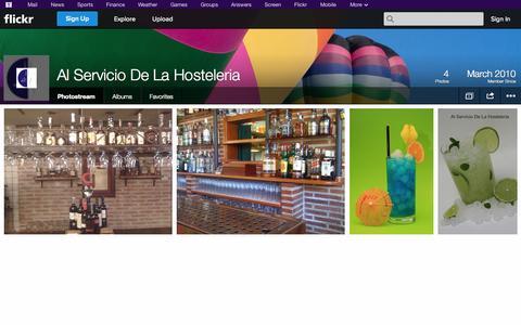 Screenshot of Flickr Page flickr.com - Flickr: Al Servicio De La Hosteleria's Photostream - captured Oct. 26, 2014