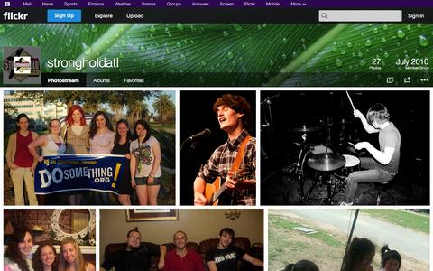 Screenshot of Flickr Page flickr.com - Flickr: strongholdatl's Photostream - captured Oct. 26, 2014