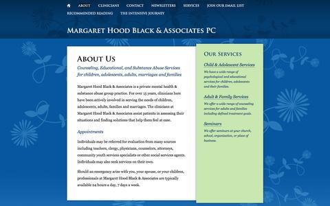 Screenshot of About Page margarethoodblack.com - About Us | Margaret Hood Black & Associates - captured Oct. 27, 2014