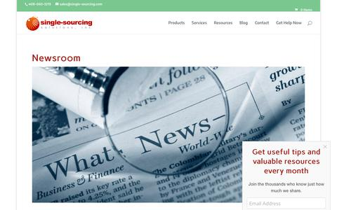 Screenshot of Press Page single-sourcing.com - Newsroom - Single-Sourcing Solutions - captured Oct. 2, 2018