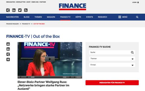 Out of the Box-FINANCE Magazin