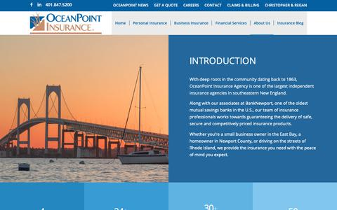 Screenshot of About Page oceanpointins.com - About OceanPoint Insurance Agency - captured Oct. 18, 2018