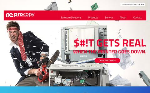 Screenshot of Home Page procopyoffice.com - ProCopy Office Solutions | Ricoh & Canon Office Printers In Arizona - captured Feb. 16, 2019