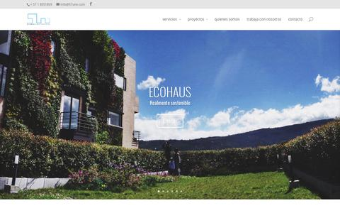 Screenshot of Home Page 57uno.com - 57uno estudio, empresa de arquitectos en Colombia - captured Jan. 26, 2015
