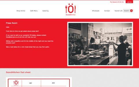 Screenshot of Press Page scandikitchen.co.uk - Press Room - ScandiKitchen - captured Oct. 31, 2014