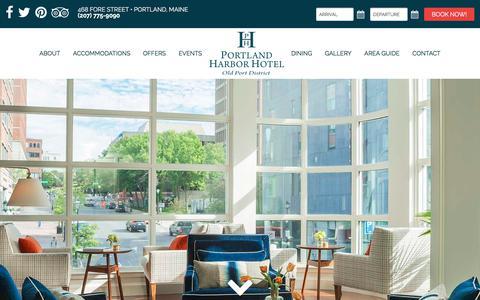 Screenshot of Contact Page Maps & Directions Page portlandharborhotel.com - Portland Harbor Hotel Location and Directions | Portland Maine Hotel in Portland's Old Port district. - captured Nov. 27, 2017