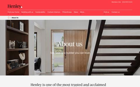 Screenshot of About Page henley.com.au - About Us - New Home Builder in Melbourne, Victoria | Henley - captured Jan. 29, 2017