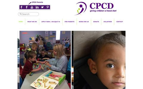 Screenshot of Home Page cpcdheadstart.org - CPCD giving children a head start - captured July 9, 2017