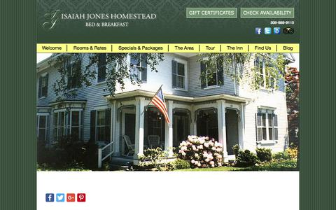 Screenshot of Contact Page Maps & Directions Page isaiahjones.com - Hotel Alternative on Cape Cod in Historic Village of Sandwich - captured July 3, 2018