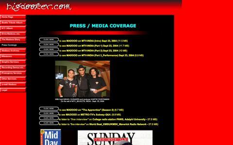Screenshot of Press Page bigdooker.com - Madooo in the Press, from Bigdooker.com - captured Nov. 17, 2016