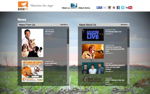 Screenshot of Press Page dogtv.com - News | DOGTV - captured Sept. 23, 2014