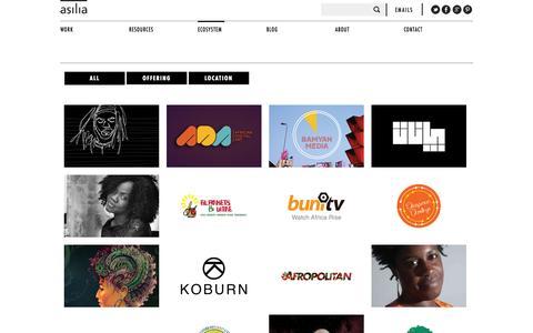 Screenshot of Press Page weareasilia.com - Ecosystem | Asilia - captured Oct. 4, 2014