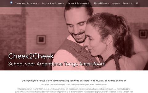 Screenshot of Home Page cheek2cheek.nl - Cheek2Cheek | Argentijnse Tango dansschool Amersfoort - captured Sept. 27, 2018