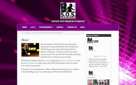 Screenshot of About Page sosentertainmentdj.com - About - New York's #1 DJ Service SOS Entertainment | SOS Entertainment Djs - captured Oct. 3, 2014