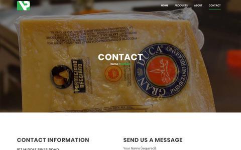 Screenshot of Contact Page vacpacinc.com - Contact | Vac Pac - captured Oct. 18, 2018