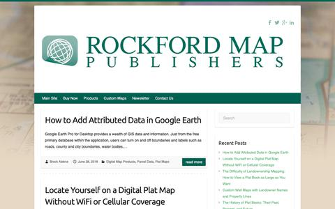 Screenshot of Blog rockfordmap.com - Rockford Map Publishers Blog – Parcel Data, GIS Files & Plat Maps - captured Oct. 19, 2018