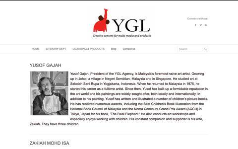 Screenshot of Team Page yusofgajahlingard.com - Our Team - Yusof Gajah Lingard Literary Agency - captured Oct. 19, 2018