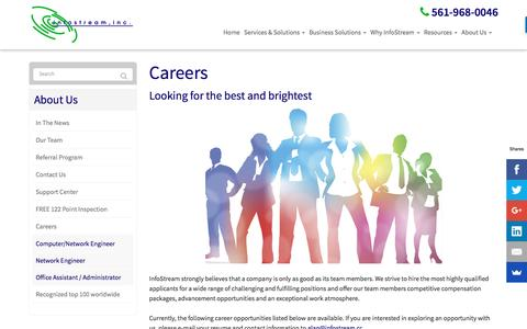Screenshot of Jobs Page infostream.cc - Careers - West Palm Beach | InfoStream, Inc - captured Nov. 26, 2016