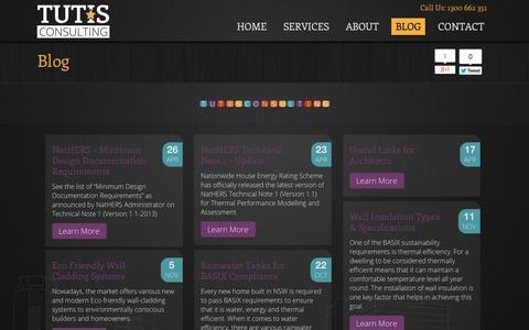 Screenshot of Blog tutis.com.au - News for Architectural / Building & Construction Industry - captured Oct. 9, 2014