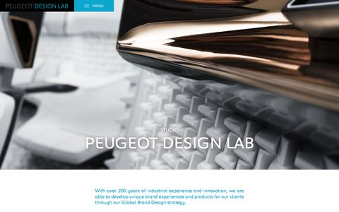 Screenshot of Services Page peugeotdesignlab.com - Peugeot Design Lab   Peugeot Design Lab - captured July 13, 2016