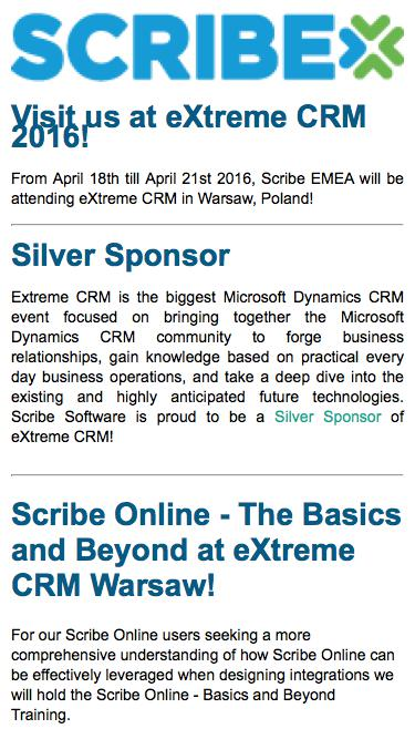 Scribe EMEA at eXtreme CRM Warsaw