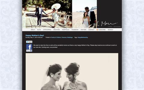 Screenshot of Blog ilmarephotography.com - IL MARE PHOTOGRAPHY » CAPTURING YOUR MOMENTS IN LIFE - captured Sept. 29, 2014