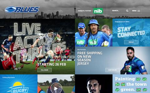 Screenshot of Home Page theblues.co.nz captured Jan. 11, 2016