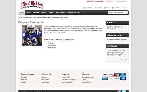 Screenshot of Testimonials Page fmeliteathlete.com - Testimonials   Performance Athletic Wear & Moisture Wicking Shirts - captured Oct. 5, 2014