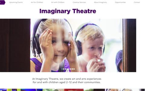 Screenshot of Press Page imaginarytheatre.org - Imaginary Theatre - captured Aug. 2, 2015