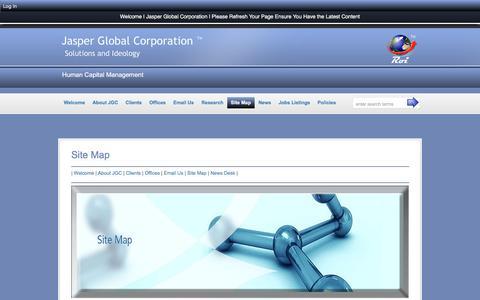 Screenshot of Site Map Page jasperglobal.com - Site Map :: Jasper Global Corporation - captured Nov. 19, 2016