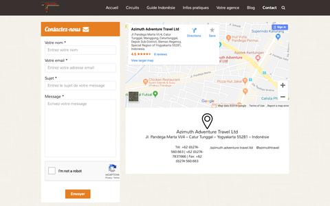 Screenshot of Contact Page voyageindonesie.com - Contact - Voyage Indonesie - captured Oct. 4, 2018