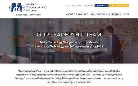 Screenshot of Team Page mainetechgroup.com - Our Team | Maine Technology Group - captured July 18, 2018
