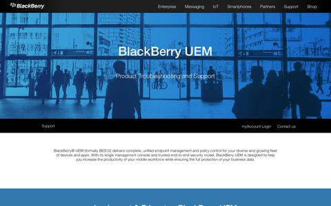 BlackBerry UEM Support - United States