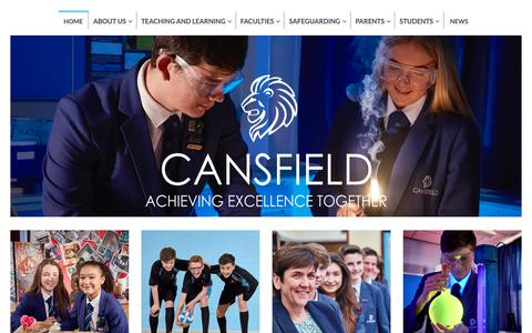 Screenshot of Home Page cansfield.wigan.sch.uk - Cansfield | Achieving Excellence Together - captured Nov. 29, 2018