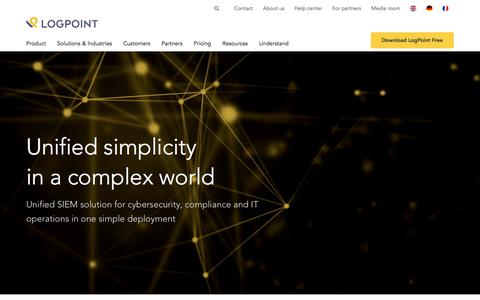 Logpoint - Security Management and Threat Intelligence Company