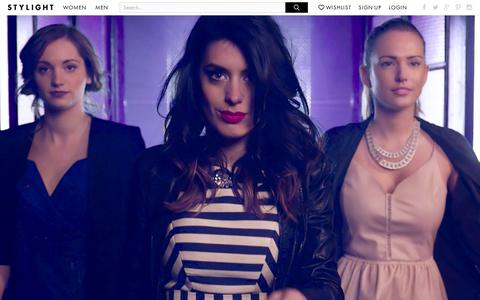 Screenshot of Home Page stylight.com - STYLIGHT − Discover Fashion You Love! - captured Sept. 10, 2014