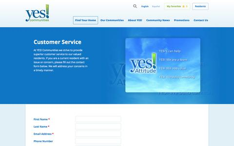 Screenshot of Support Page yescommunities.com - Yes! Communities Customer Service | Yes Communities - captured May 26, 2017