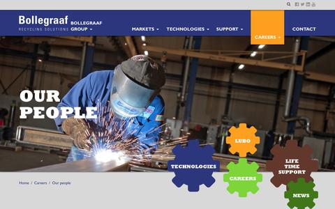 Screenshot of Team Page bollegraaf.com - Our people › Bollegraaf Recycling Solutions - captured Nov. 12, 2016