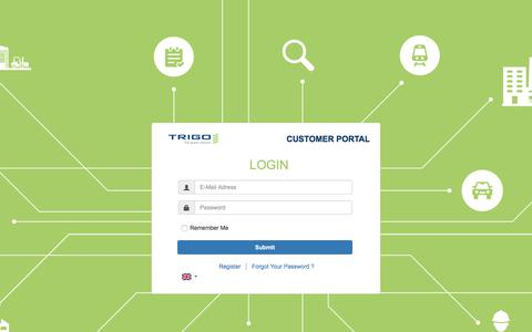 Screenshot of Login Page trigo-group.com - Trigo Customer Portal - - captured Oct. 10, 2017