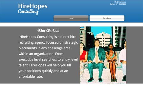 Screenshot of Home Page hirehop.es - hirehopes - captured Oct. 8, 2014