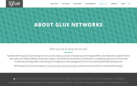 Screenshot of About Page gluenetworks.com - About Us – Glue Networks - captured July 3, 2015