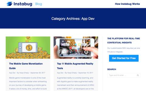 Screenshot of Developers Page instabug.com - (1) New Message! - captured Dec. 3, 2019