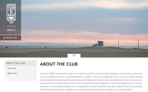 Screenshot of About Page jc.org - About the Club - Jonathan Club - captured Oct. 16, 2017