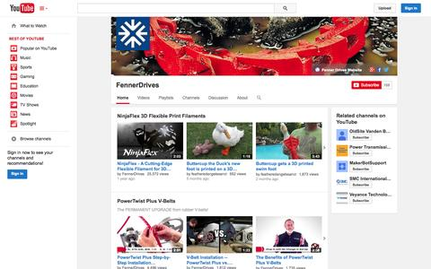 Screenshot of YouTube Page youtube.com - FennerDrives  - YouTube - captured Oct. 23, 2014