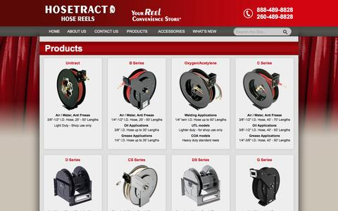 Screenshot of Products Page hosetract.com - PRODUCTS - Hosetract - captured June 23, 2016